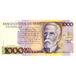 Brésil - Pick 213b - 1'000 cruzados - 1988 - Etat : NEUF