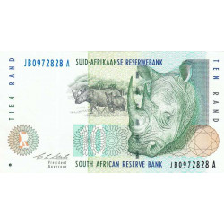 Afrique du Sud - Pick 123a - 10 rand - 1993 - Etat : SUP