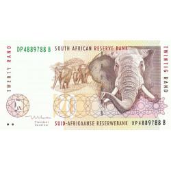 Afrique du Sud - Pick 124b - 20 rand - 1999 - Etat : NEUF