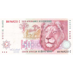 Afrique du Sud - Pick 125b - 50 rand - 1992 - Etat : TTB