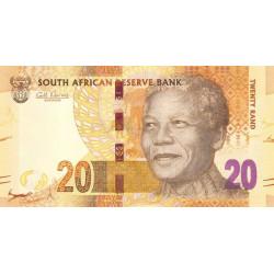 Afrique du Sud - Pick 134 - 20 rand - 2012 - Etat : NEUF