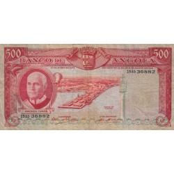 Angola - Pick 97 - 500 escudos - 1970 - Etat : TB