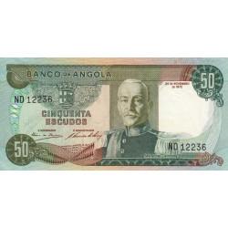 Angola - Pick 100 - 50 escudos - 24/11/1972 - Etat : SUP