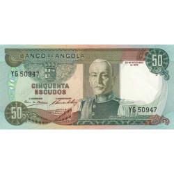 Angola - Pick 100 - 50 escudos - 1972 - Etat : SPL