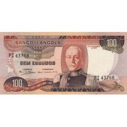 Angola - Pick 101 - 100 escudos - 24/11/1972 - Etat : SUP