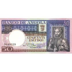 Angola - Pick 105a - 50 escudos - Série 9A - 10/06/1973 - Etat : NEUF