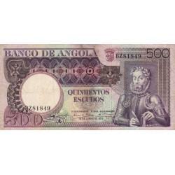Angola - Pick 107 - 500 escudos - 1973 - Etat : TB-