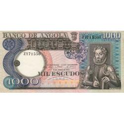 Angola - Pick 108 - 1'000 escudos - Série ZY - 10/06/1973 - Etat : SUP