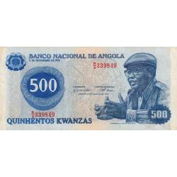 Angola - Pick 116 - 500 kwanzas - Série R/A - 14/08/1979 - Etat : TB+