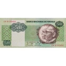 Angola - Pick 118 - 50 kwanzas - Série CH - 07/01/1984 - Etat : NEUF