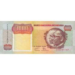 Angola - Pick 129c - 1'000 kwanzas - 04/02/1991 - Etat : TTB