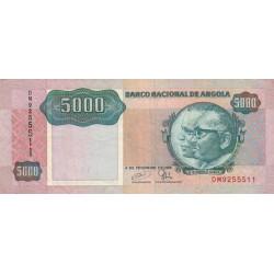Angola - Pick 130c - 5'000 kwanzas - Série DM - 04/02/1991 - Etat : TTB
