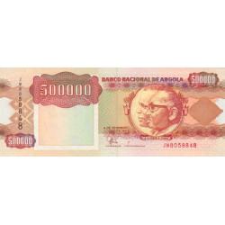 Angola - Pick 134 - 500'000 kwanzas - Série JW - 04/02/1991 - Etat : NEUF
