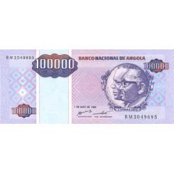 Angola - Pick 139 - 100'000 kwanzas reajustados - Série RM - 01/05/1995 - Etat : NEUF