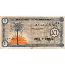 Biafra - Pick 2 - 1 pound - 1968 - Etat : TB