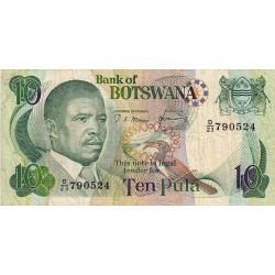 Botswana - Pick 9c - 10 pula - Série D/23 - 1987 - Etat : TB