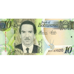 Botswana - Pick 30c - 10 pula - Série AC - 2012 - Etat : NEUF