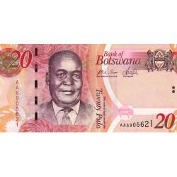 Botswana - Pick 31a - 20 pula - 2009 - Etat : NEUF