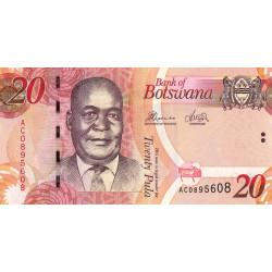 Botswana - Pick 31c - 20 pula - Série AC - 2012 - Etat : NEUF