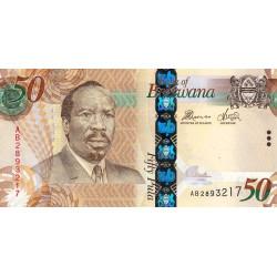 Botswana - Pick 32b - 50 pula - 2012 - Etat : NEUF