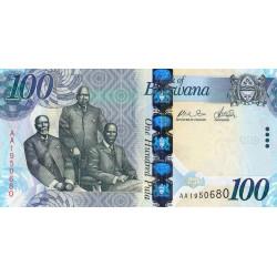 Botswana - Pick 33a - 100 pula - Série AA - 2009 - Etat : NEUF