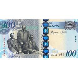 Botswana - Pick 33c - 100 pula - Série AC - 2012 - Etat : NEUF
