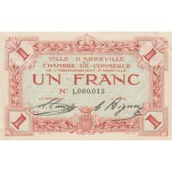 Abbeville - Pirot 1-3b - 1 franc - Sans date - Etat : SPL