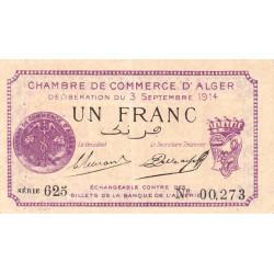 Algérie - Alger 137-01 - 1 franc - 1914 - ETAT : SUP