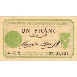 Algérie - Alger 137-3 - 1 franc - Série T.2 - 03/09/1914 - Etat : SUP+