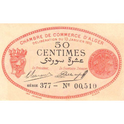 Algérie - Alger 137-5 - 50 centimes - Série 377 - 13/01/1915 - Etat : NEUF