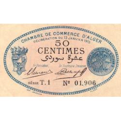 Algérie - Alger 137-8 - 50 centimes - Série T.1 - 13/01/1915 - Etat : SPL