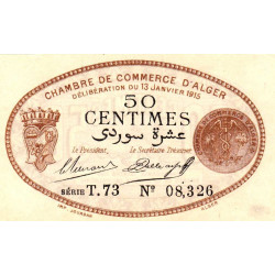 Algérie - Alger 137-09 - 50 centimes - Série T - 1915 - ETAT : SPL