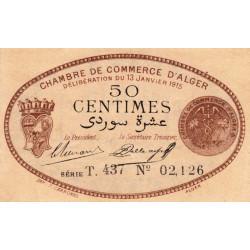Algérie - Alger 137-10 - 50 centimes - Série T - 1915 - ETAT : SPL