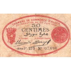 Algérie - Alger 137-11 - 50 centimes - Série P.275 - 25/06/1919 - Etat : TB-