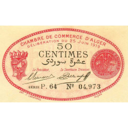 Algérie - Alger 137-11 - 50 centimes - Série P.64 - 25/06/1919 - Etat : SPL