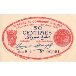 Algérie - Alger 137-19 - 50 centimes - Série B.1 - 22/06/1921 - Etat : SPL