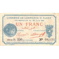 Algérie - Alger 137-20 - 1 franc - Série B - 1921 - ETAT : TB+