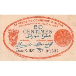 Algérie - Alger 137-27 - 50 centimes - Série E - 1923 - ETAT : TTB