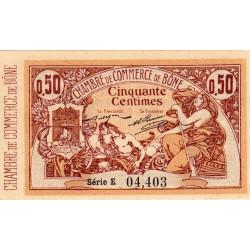 Algérie - Bône 138-1 - 50 centimes - Série E inédite - 18/05/1915 - Etat : SPL