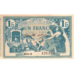 Algérie - Bône 138-10 - 1 franc - Série B - 30/07/1919 - Etat : SPL