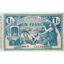 Algérie - Bône 138-13 - 1 franc - Série B - 08/03/1920 - Etat : TTB