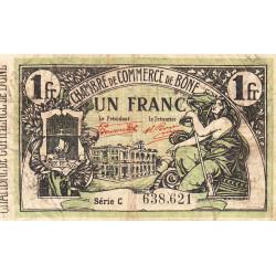 Algérie - Bône 138-15 - 1 franc - Série C - 05/01/1921 - Etat : TB-