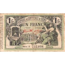 Algérie - Bône 138-17 - 1 franc - Série D - 23/09/1921 - Etat : TB-