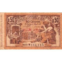 Algérie - Bône 138-18 - 50 centimes - Série M - 23/09/1921 - Etat : TB-