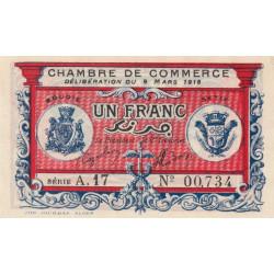 Algérie - Bougie-Sétif 139-06 - 1 franc - 09/03/1918 - Etat : SPL+