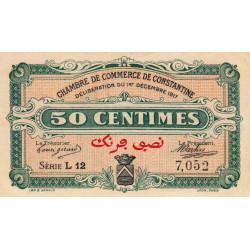 Algérie - Constantine 140-12 - 50 centimes - Série L12 - 01/12/1917 - Etat : SUP