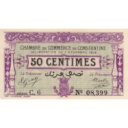 Algérie - Constantine 140-21 - 50 centimes - Série C - 1919 - ETAT : SPL