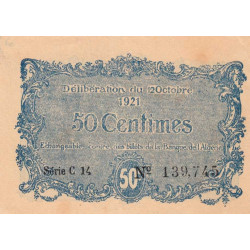 Algérie - Constantine 140-33 - 50 centimes - Série C - 1921 - ETAT : SPL