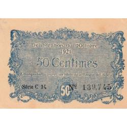 Algérie - Constantine 140-33 - 50 centimes - Série C14 - 12/10/1921 - Etat : SPL