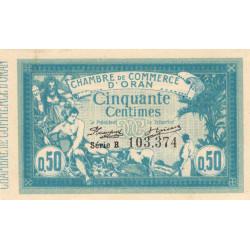 Algérie - Oran 141-01 - 50 centimes - Série B - 1915 - ETAT : SUP+